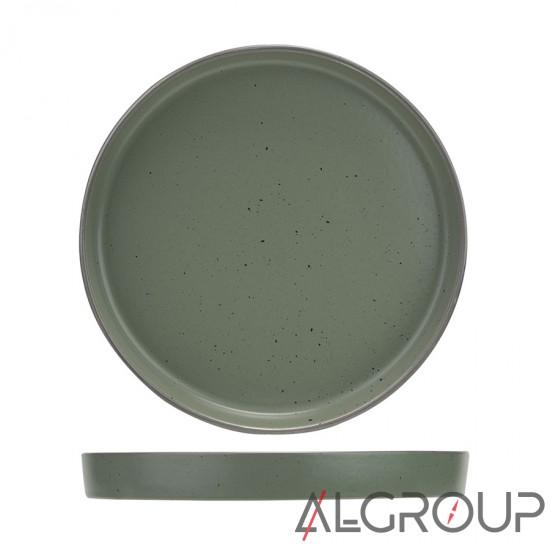 купить Тарелка 27 см, с вертикальным бортом, зеленая, Selas, Ariane