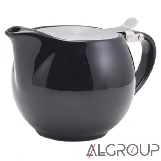 купить Чайник черный 500 мл, с фильтром и крышкой, Color Tea, GenWare