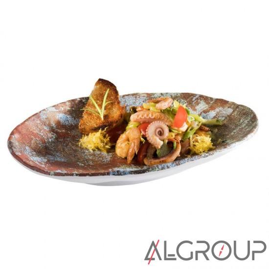 Блюдо овальное 24 x 17см h 3.5 см из меламина, Aquaris, APS