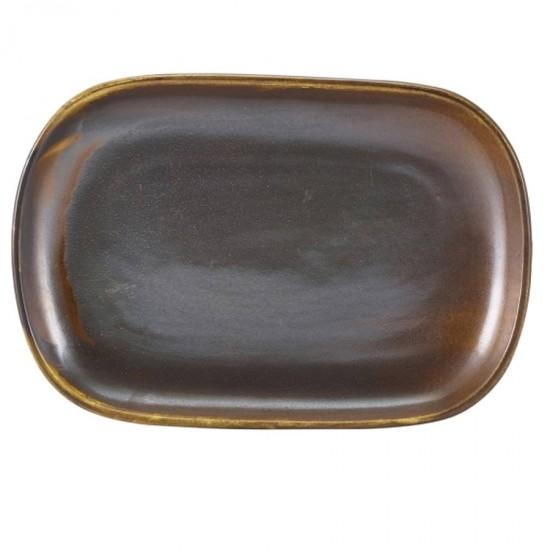 Блюдо прямоугольное 24x16.5 см, Terra Porcelain Rustic Copper, GenWare