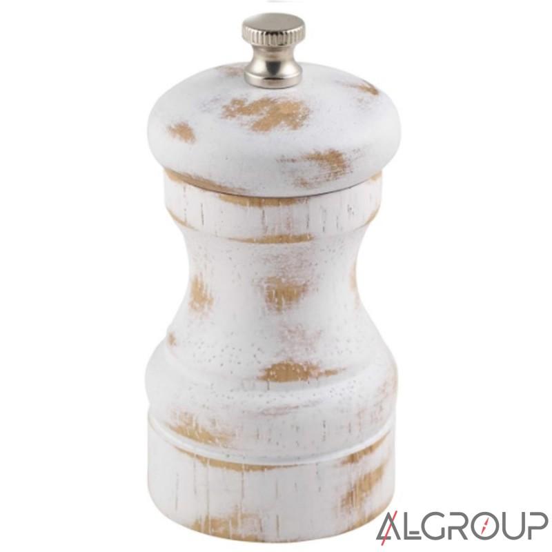 мельница для соли и перца 10 см белая деревянная Genware